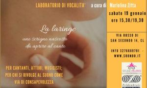Laboratorio Metodo della Voce Lichtenberg© 19 gennaio a Caltanissetta