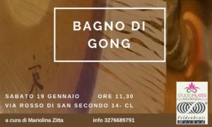 Bagno di gong a Caltanissetta il 19 gennaio'19